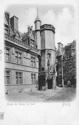 963 La cour du Musée de Cluny