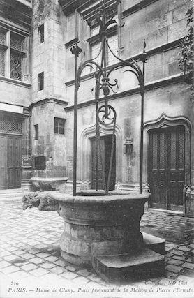 964 Musée de Cluny. Puits provenant de la maison de Pierre l'Ermite
