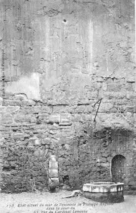 980 Mur d'enceinte de Philippe Auguste, cour du 62 rue du Cardinal Lemoine
