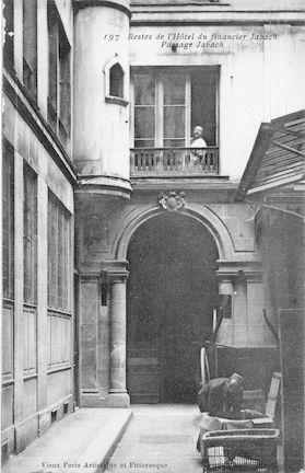 982 Reste de l'hotel du financier Jabach. Passage Jabach ( 14è arrondissement)