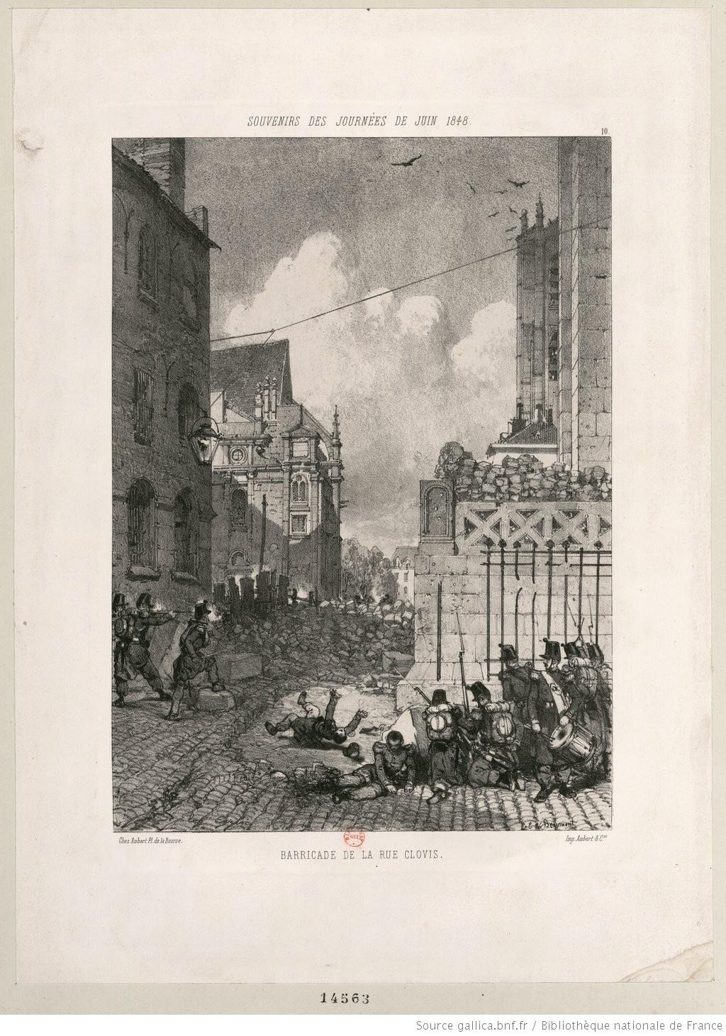 ➢Barricade de la rue Clovis-Éditeur -  Chez Aubert-1848