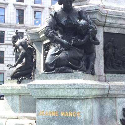 Jeanne Mance#2-J.C Goulon-Place d'armes-Montréal