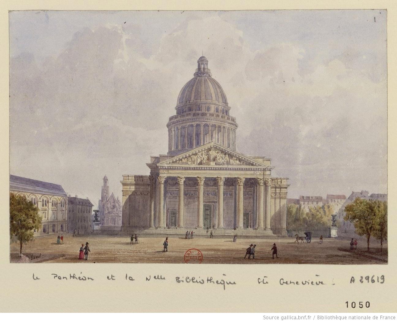 ➢Panthéon-Gobaut, Gaspard (1814-1882). Dessinateur