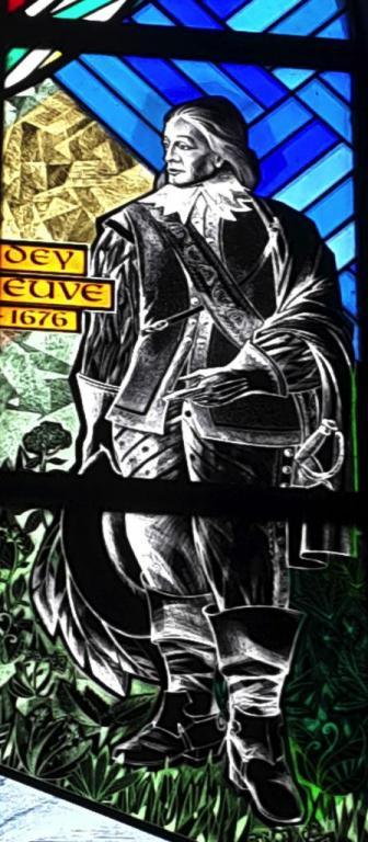 Vitrail Paul de Maisonneuve. Eglise de Brouage#1