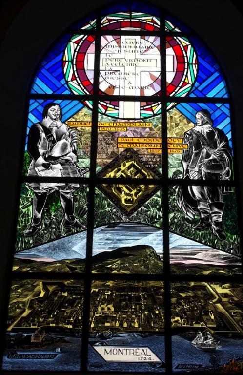 Vitrail Paul de Maisonneuve. Eglise de Brouage #3