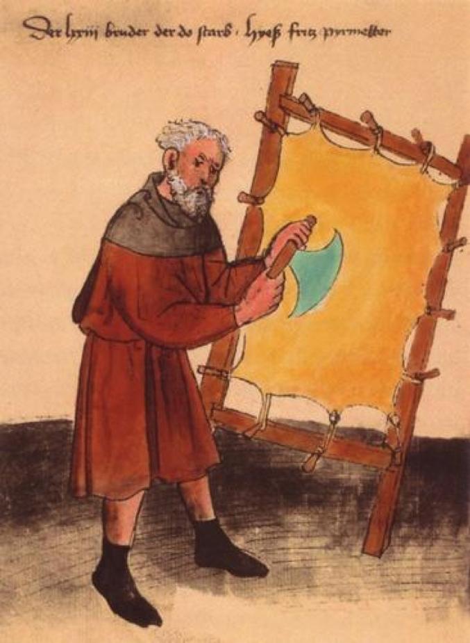 Fritz un parcheminier de nuremberg vers 1450 stadtbibliotek nuremberg copyright akg image