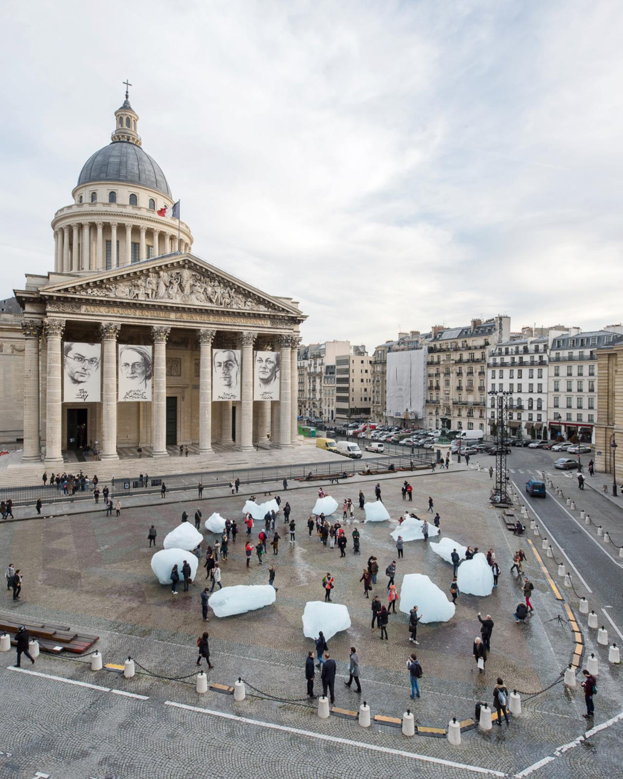 Place du panthe on ice watch olafur eliasson